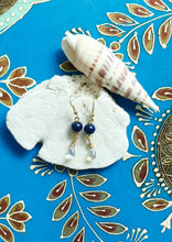Load image into Gallery viewer, Navy Blue Earrings