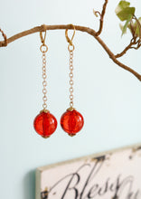 Load image into Gallery viewer, Red Chic Dangle Earrings