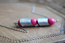 Load image into Gallery viewer, Fuchsia Bar Necklace