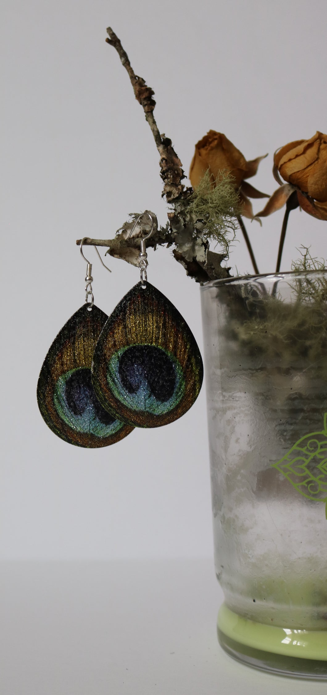 Feather Teardrop Earrings