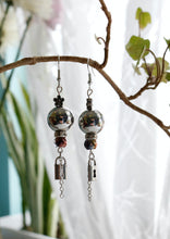 Load image into Gallery viewer, Silver Night Earrings