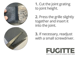 FUGITTE joints fan easily with scissors to customize