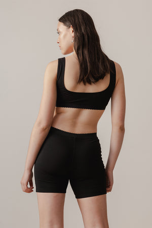 Scallop Crop - Black