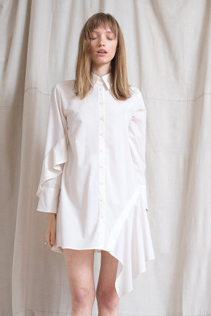 Oyster Shirtdress - Cloud