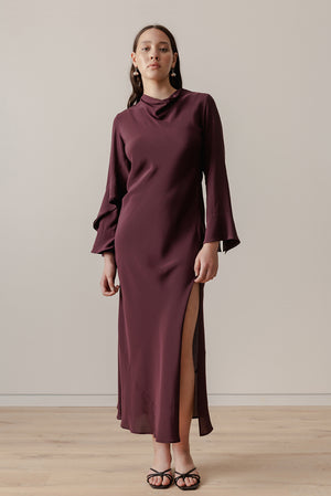 Oyster Gown - Aubergine