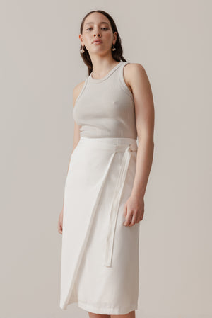 Tidal Wrap Skirt - Cloud