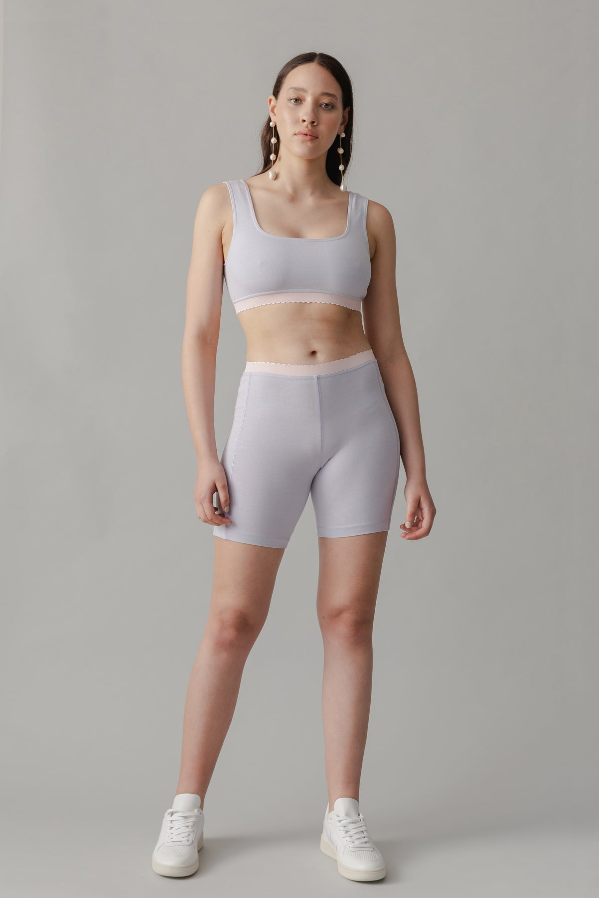 Scallop Bike Short - Marshmallow