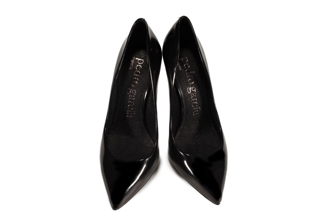 Aneley black cordovan pump