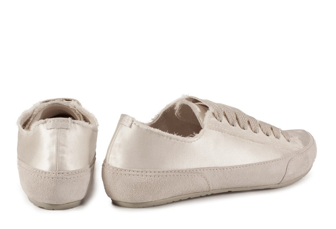 Parson Satin Sneakers Ivory