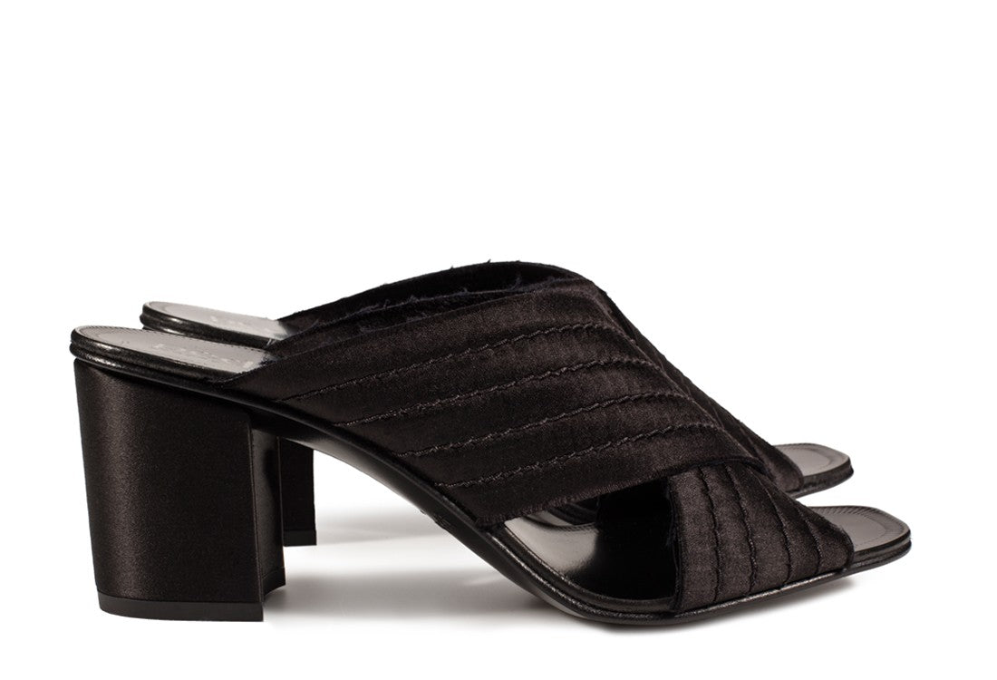 Xail Satin Sandal Black