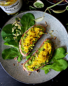 Smashed Avo Golden Kraut toast