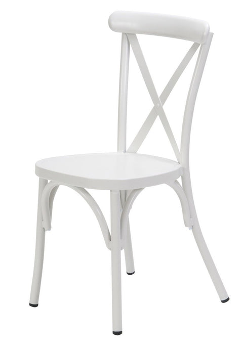 Ruelle Outdoor Stacking Chair Matt White-fliphome.com.au