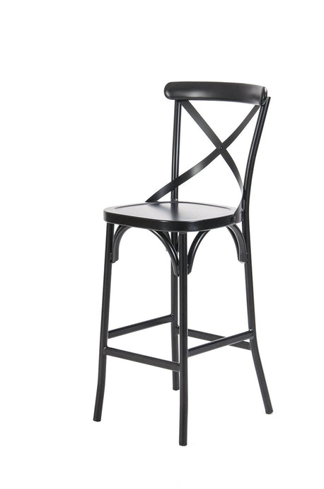 Ruelle Outdoor Bar Chair Matt Black-fliphome.com.au