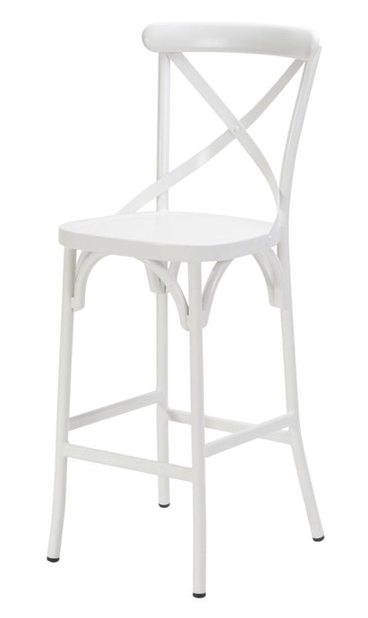 Ruelle Outdoor Bar Chair Matt White-fliphome.com.au