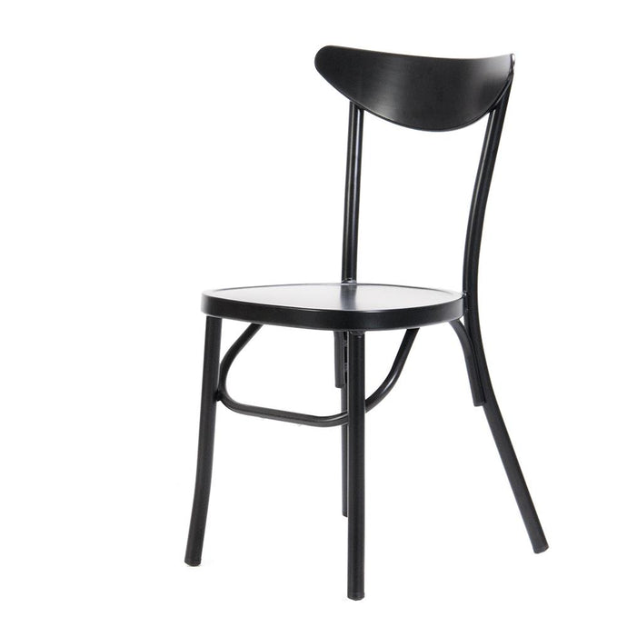 Meli Outdoor Stacking Chair Matt Black-fliphome.com.au