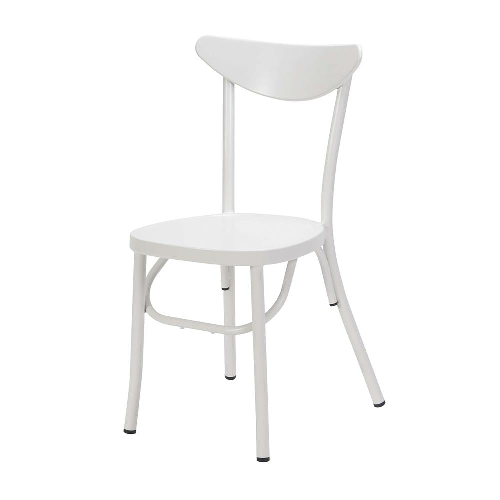 Meli Outdoor Stacking Chair Matt White-fliphome.com.au