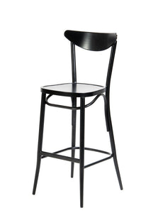 Meli Outdoor Bar Chair Matt Black
