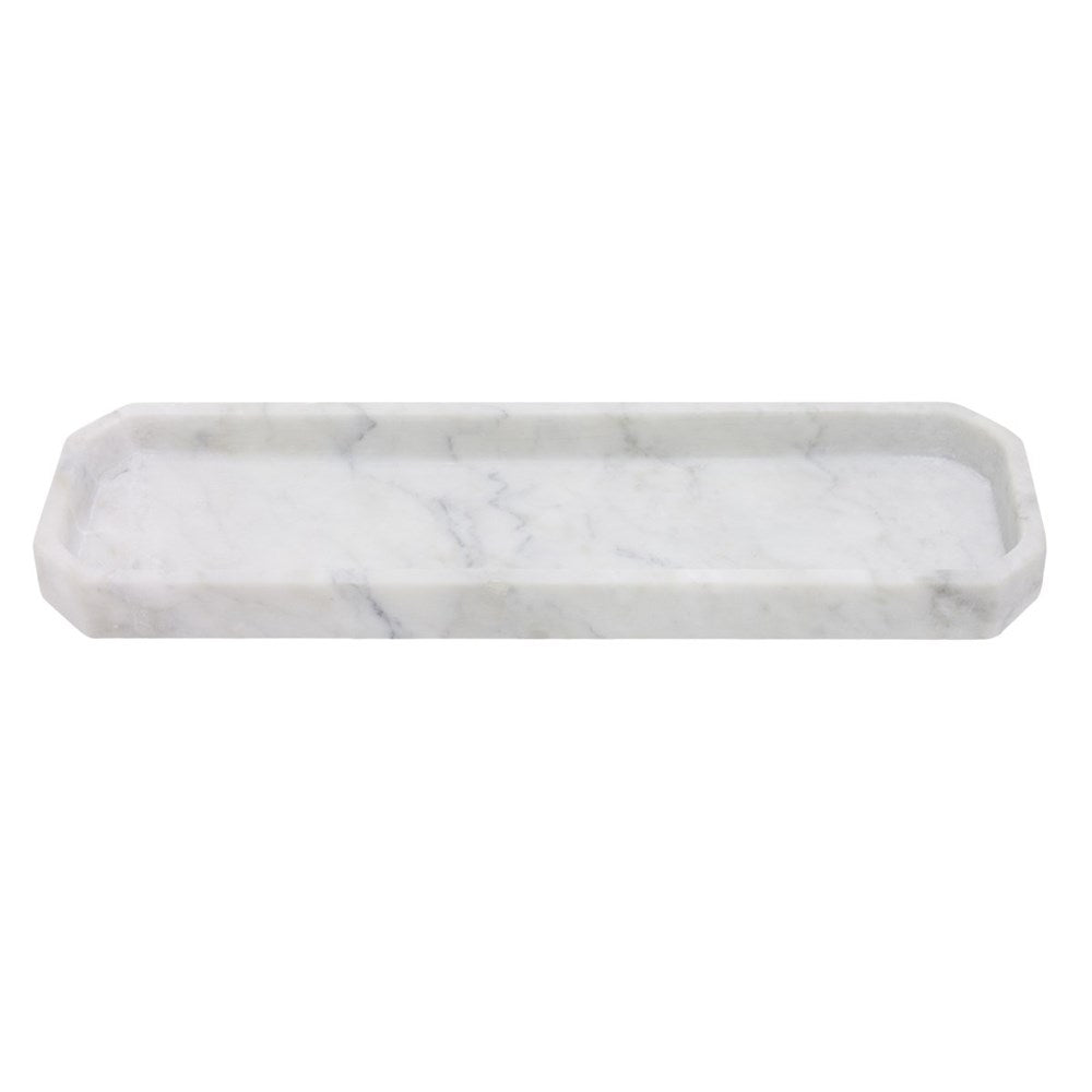 Elementer Octagon Marble Tray - Grey