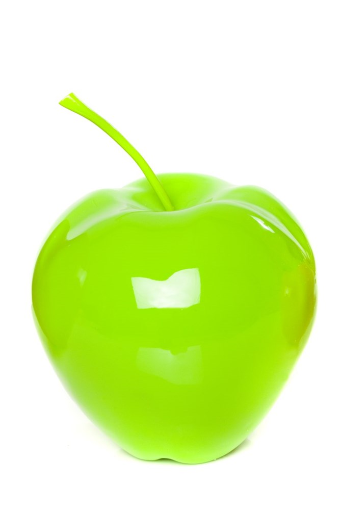 Contemporary Resin Apple Extra Large - Green