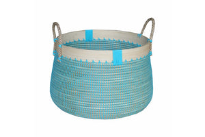 Laundry Basket Ocean Blue Lrg