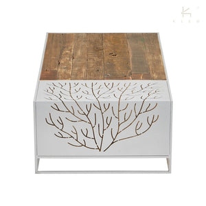 Coral Rectangle Coffee Table White