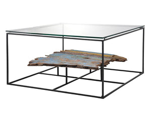 LOOK SALVAGE SQUARE COFFEE TABLE-fliphome.com.au
