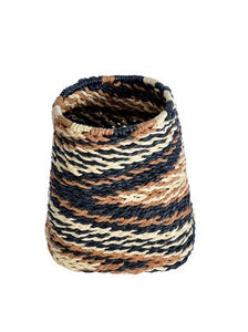 Natural Zig Zag Basket - Small