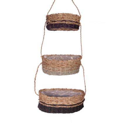 Two Tone Hanging Basket Set-fliphome.com.au