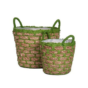 Two-Tone Planter - Green (Set of 2)