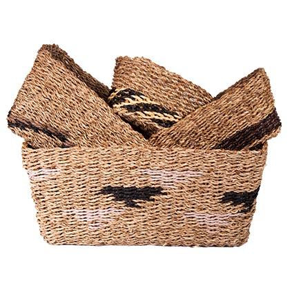 TRIBAL BASKETS SET/4 RECTANGLE-fliphome.com.au