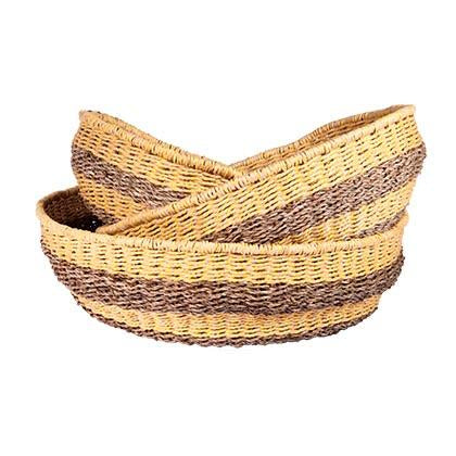 Circle Basket Lge Lemon-fliphome.com.au