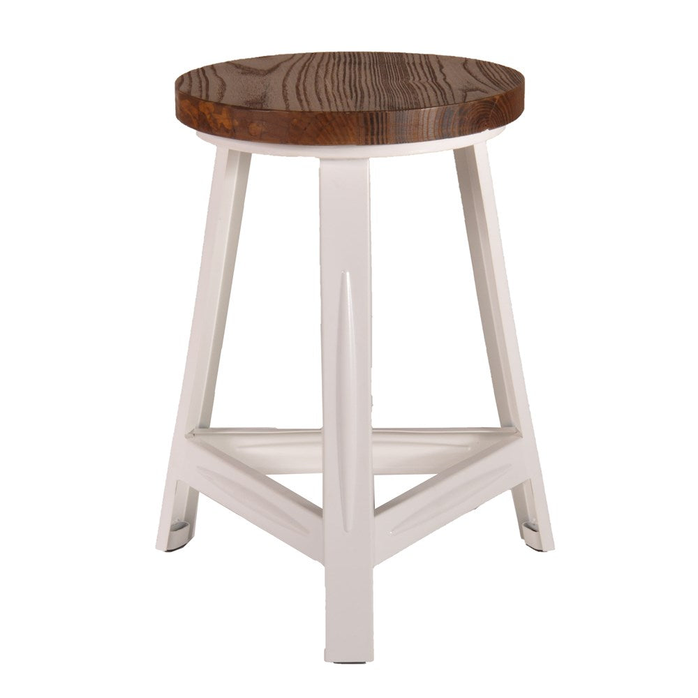 Rack  Stool With Timber Top