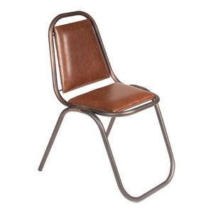 Retro Chair With Leather Look Seat