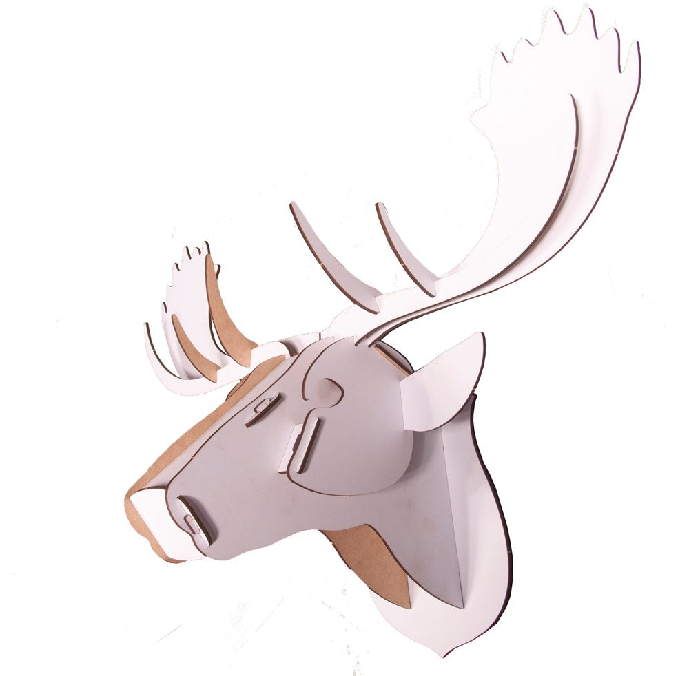 Wall Mounted Puzzle - Moose - White