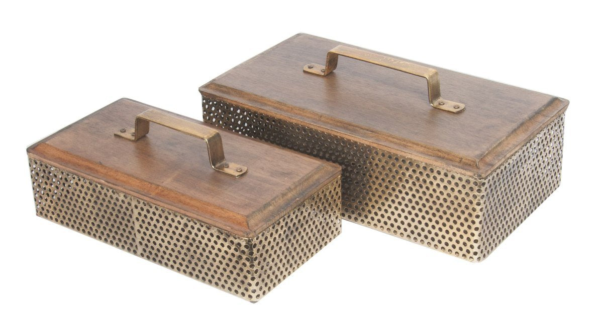 Luxe Deco Storage Boxes Set Of 2-fliphome.com.au