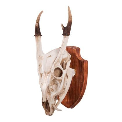 Small Deer Skull On Plaque-fliphome.com.au