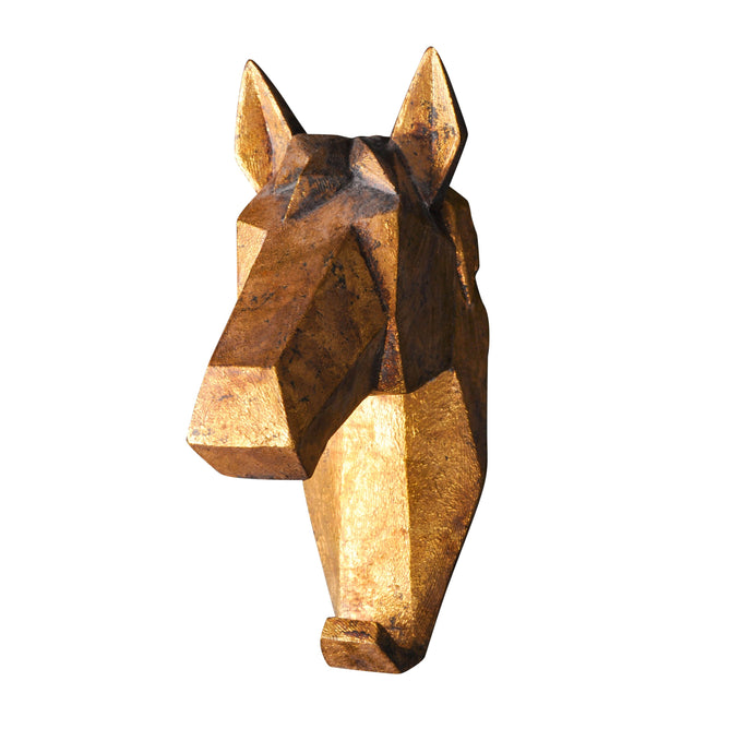 Geometric Horse Head Wall Hook-fliphome.com.au
