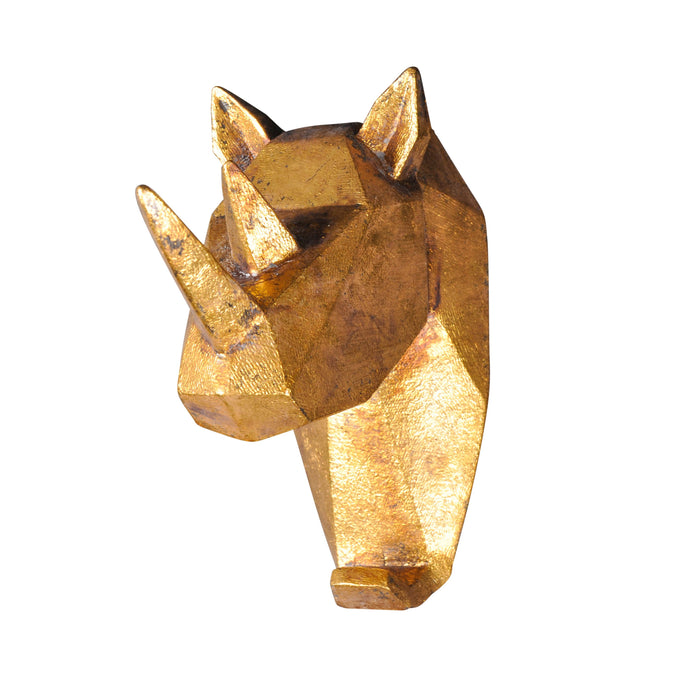 Geometric Rhinoceros Head Wall Hook-fliphome.com.au