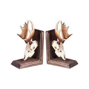 Moose Skull Bookends-fliphome.com.au