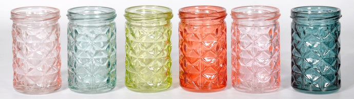 Multi Coloured Jar Glass Set-fliphome.com.au