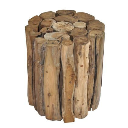 Woody Stool Round-fliphome.com.au
