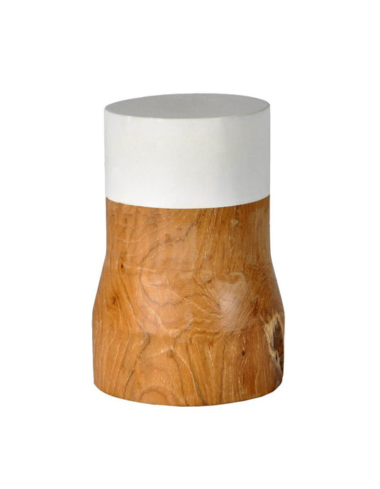 Dipped Wood Block Vessel-fliphome.com.au