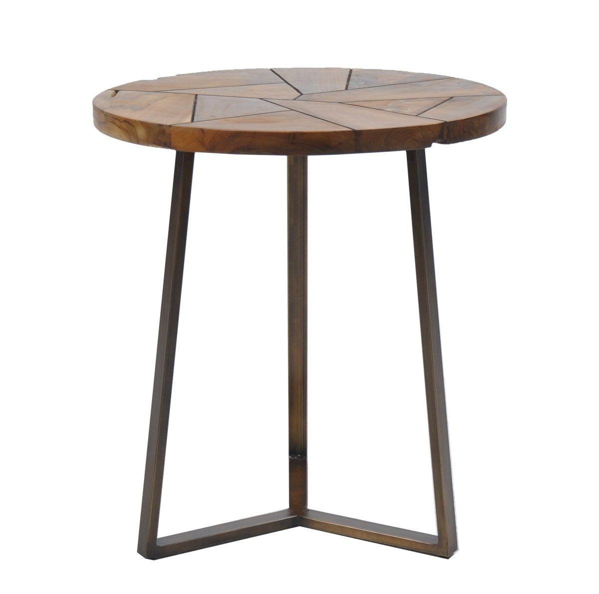 Flutted Side Table Round-fliphome.com.au