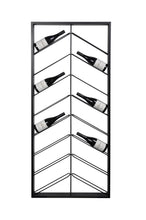 Load image into Gallery viewer, Chevron Wine Rack - Iron-fliphome.com.au