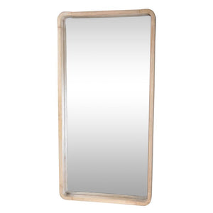 Cooper Rectangular Mirror - Rubber Wood-fliphome.com.au