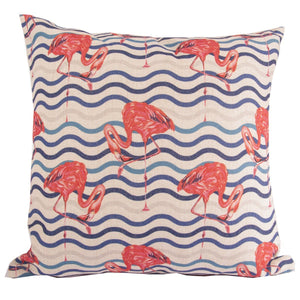 Flamingoes On The Water Cushion Cover-fliphome.com.au