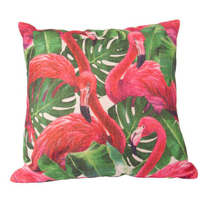 Flamingo Jungle Cushion Cover