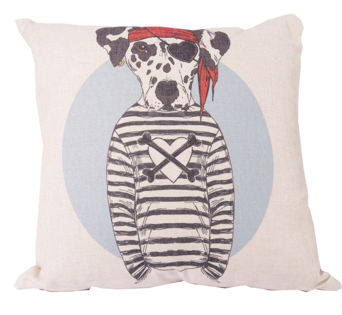 Pirate Dalmation Cushion Cover-fliphome.com.au