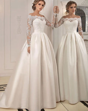 2020 Best Beautiful Lace 2 Piece Wedding Dress