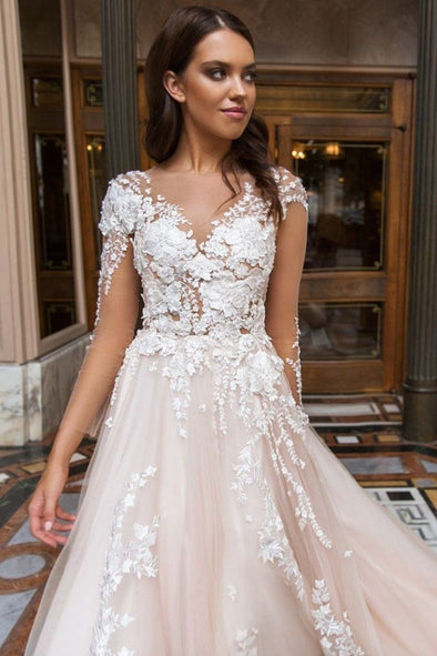 2020 Best Beautiful Lace Chiffon Wedding Dress